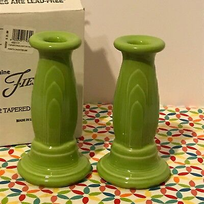 Fiestaware Chartreuse Tapered Candle Holders Fiesta Y2K Millennium Retired Set
