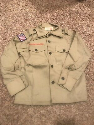 BSA official Uniform Shirt, Long sleeve Size 8 Boys