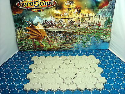 Expand Your Heroscape  Battlefield with 63 hexes of Concrete Terrain