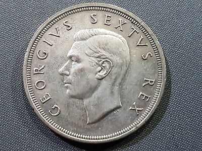 South Africa - Silver Crown -   5 Shillings - Year 1952 -