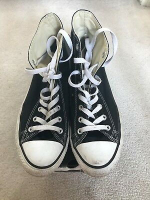 Converse high top m9160 All Star Black Unisex Mens 8 Womens 10 Used with Box