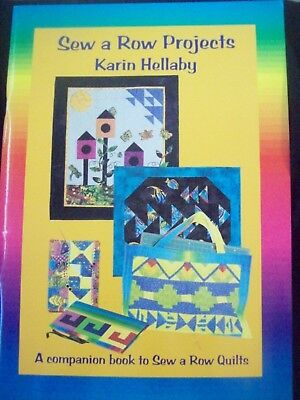 Quilt Patterns Karin Hellaby Companion Book to Sew a Row Quilts *Nice* SIGNED