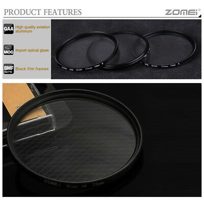 ZOMEI 6 Cross Line Point Star Filters For Lens 52mm Camera Nikon Canon UK STOCK