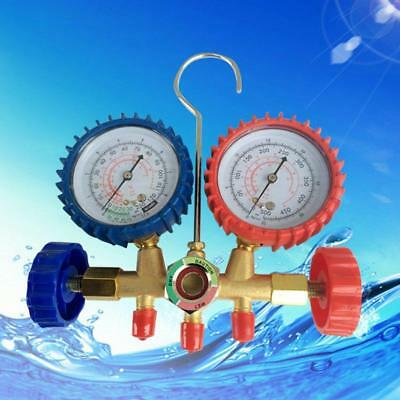 Automotive Air Conditioning Refrigeration AC Manifold Gauge Fluoride Meter MM BT