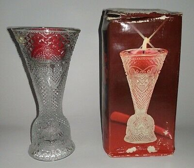 Avon Heart and Diamond Covertible Candlestick/Candle Holder/Vase ETVB