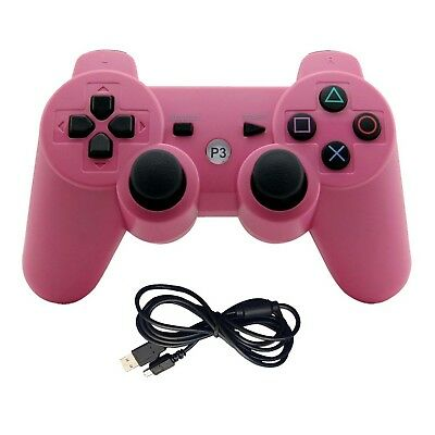Playstation 3 PS3 PINK Wireless Gaming Controller Bluetooth Gamepad Analog