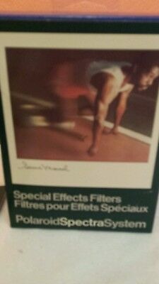 Vintage Polaroid Spectra System Camera w/Special Effects Filters & Close Up Lens
