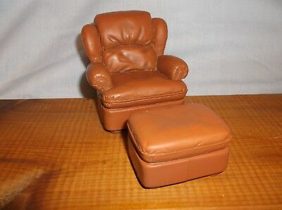 """RAINE by WILLITTS EASY CHAIR and OTTOMAN """"TAKE A SEAT"""" DOLLHOUSE"""