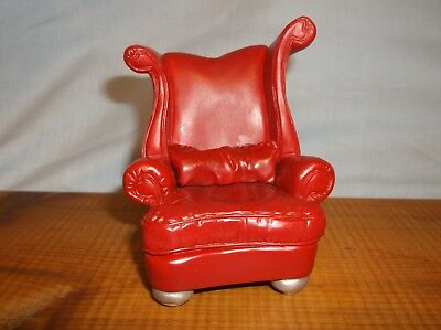 """RAINE by WILLITTS RED HEART CHAIR """"TAKE A SEAT"""" DOLLHOUSE"""