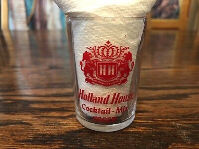 Vintage Holland House Cocktail Mix Jigger Shot Glass W/ Jigger & Ounce Measure