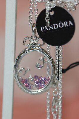 629413827 Authentic New Pandora 397716Aczmx-70 Locket Of Dazzle Necklace Gift Box $125