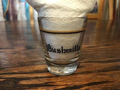 Vintage Shot Glass  -  Bushmills Irish Whiskey