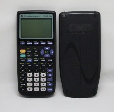Texas Instruments TI-83 Plus Calculator w/ Slide Cover TESTED!