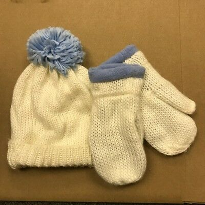 Lot Of 14 Girls Acrylic  Knit Caps And Mittens