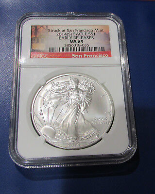 2014-S Eagle S$1 Early Releases NGC MS 69