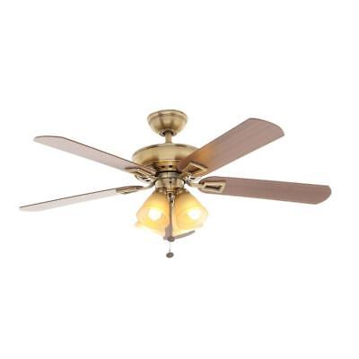 Hampton Bay Lyndhurst 52 in. Indoor Antique Brass Ceiling Fan