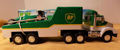 1993 BP Toy Race Car Carrier w /Removable Formula One Car & Working Lights NOS