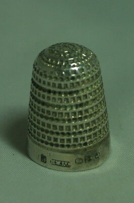 Victorian Silver Thimble Henry Williamson Chester 1894 Size 9 AF A602017