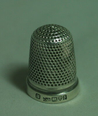 Edwardian Silver Thimble Charles Horner Chester 1906 Size 8 A602017