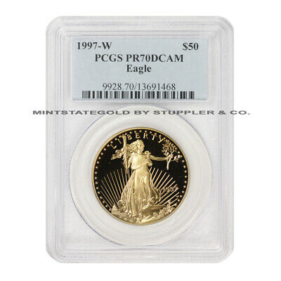 1997-W $50 Eagle PCGS PR70DCAM Deep Cameo American Gold Proof coin 1oz 22KT