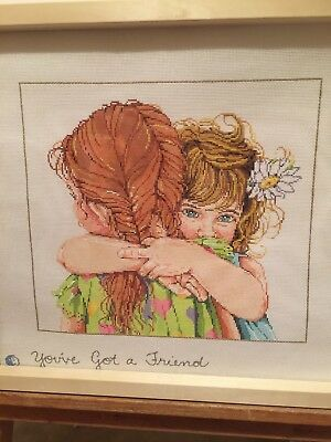 Handpainted you've Got a friend 18mesh canvas new