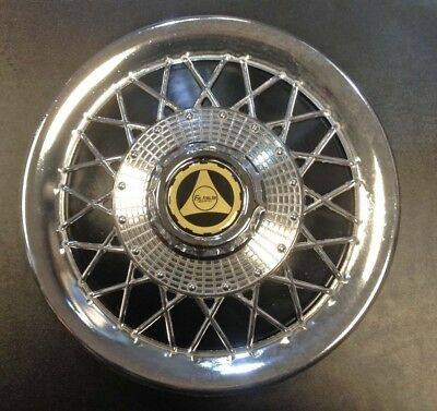 "Wheel hub cap coloured/mock spoke 10"" black for Vespa & LML by F.A. Italia"