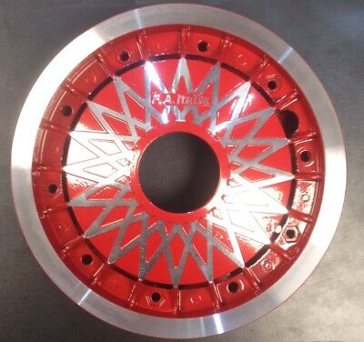 "Wheel rim 10"" split diamond spoke alloy red for Vespa PX by F.A. Italia"