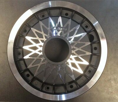 "Wheel rim 10"" split diamond spoke alloy black for Vespa PX by F.A. Italia"