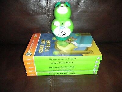 LeapFrog Leap Reader Tag Junior Puppy Dog Reader, With 5 Junior Board Books (LN)