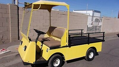 Ez-Go Industrial Flatbed 36V Utility Cart With Charger A-1 Condition