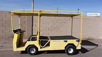 Ez-Go  Industrial Flatbed Elec. Utility Cart With Charger A1 Cond.