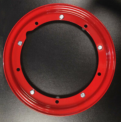 "Wheel rim 10"" split painted red for Vespa by F.A. Italia"