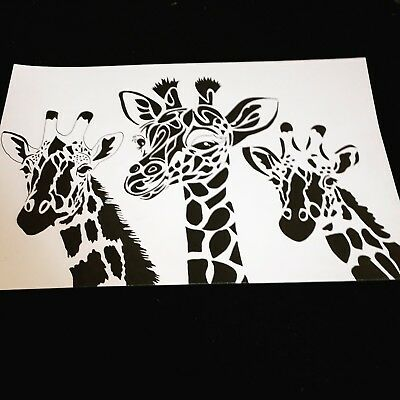 Original GIRAFFE Drawing, Art. signed and framed. Unique Gift @LOOK@