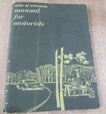 Vintage State of Wisconsin Manual for Motorists Lucey was Governor >
