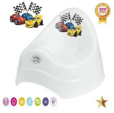 Baby Kids Plastic Potty Toilet Seat Trainer Training Seat White Cars