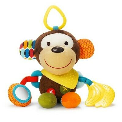 Skip Hop Bandana Buddies Stroller Car Seat Activity Toy Teether Monkey