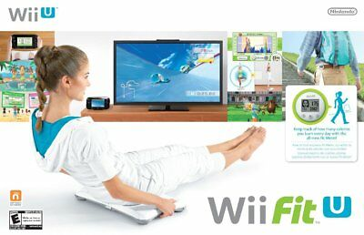 Wii Fit U Balance Board Accessory w/ Game & Fit Meter | Tested Fast Shipping>