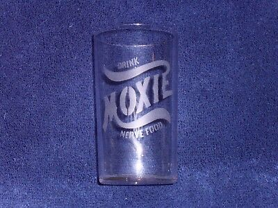 1890's Etched Moxie Nerve Food Glass - Mint Condition!!! - No Reserve!!!