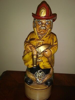 Fire Chief with Dalmation Ceramic Decanter