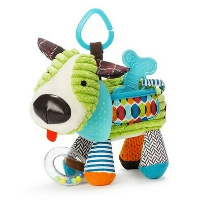 Skip Hop Baby Teether Stroller Car Seat Activity Toy Bandana Buddies - Hound Dog