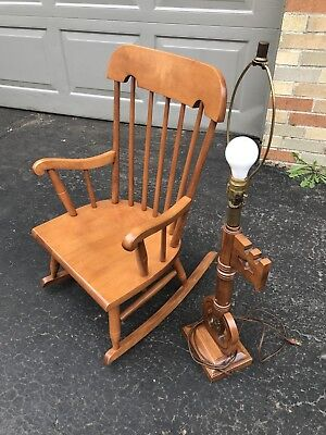 Tell City Solid Hard Rock Maple Andover Vintage Child's Rocking Chair