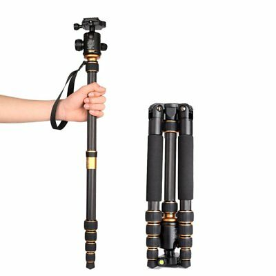 Professional Portable Carbon Fiber Tripod Monopod&BallHead Travel for SLR Camera
