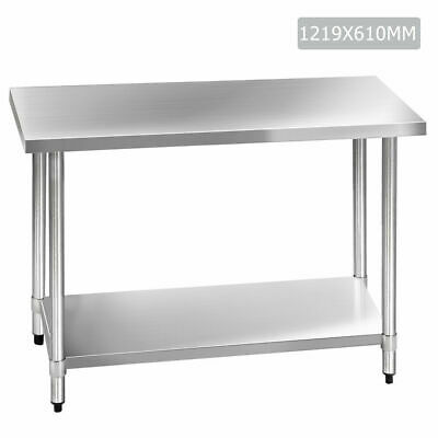 Cefito Stainless Steel Kitchen Bench Commercial and Home Use 1219 x 610 x 890 mm