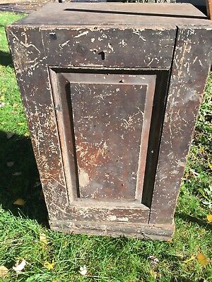 Antique Primitive Medicine Cabinet Shabby Spice Cupboard Country Farm House VTG