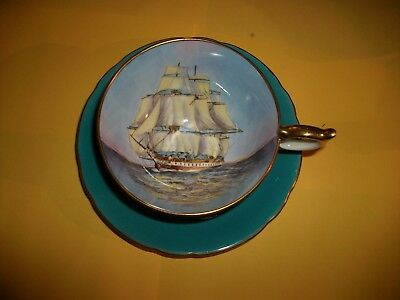 Vintage Aynsley English Bone China Tea Cup and Saucer  / Tall Clipper Ship