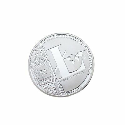 Silver Plated LTC 25 Litecoin Vires in Numeris Collect HOBO Medallion COIN