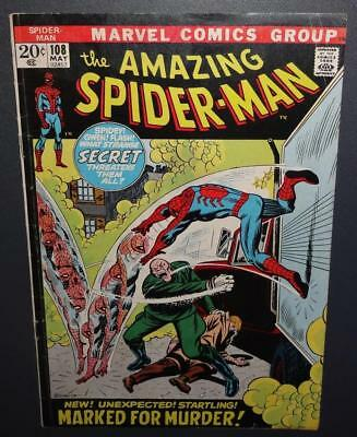 The Amazing Spider-Man #108 1972 4.0 VG 1st appearance Sha-Shan BV$12 40%Off