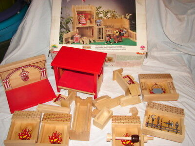 Voila Castle Dollhouse Furniture Solid Wood Wooden Parts Pieces Doll House