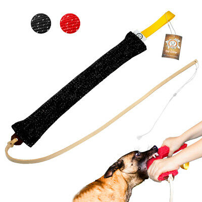 Dog Agitation Training Leather Soft Whip with Dog Bite Tug for Schutzhund K9