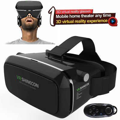 VR Virtual Reality 3D Glasses Bluetooth for Cellphone Controller for Android iOS